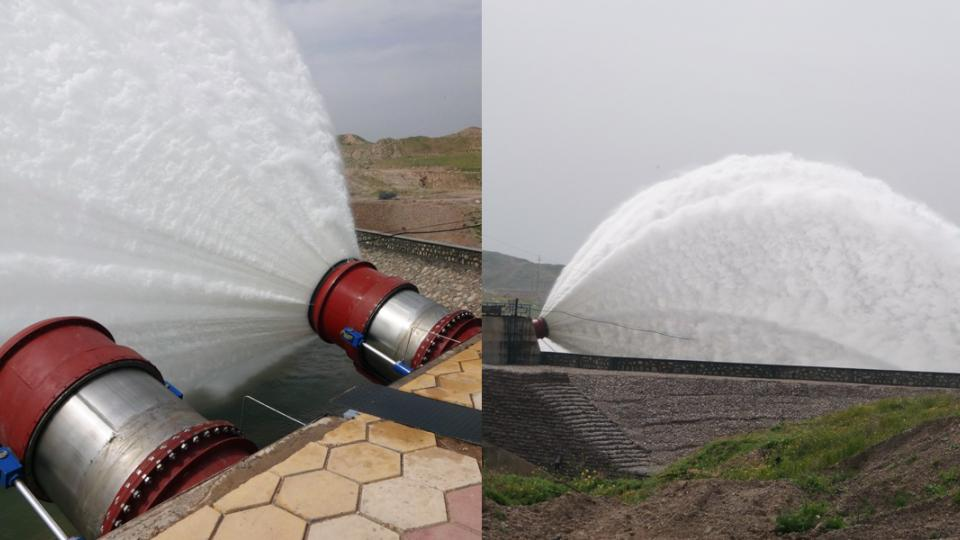 Al-Adaim Dam - Irrigation Outlet first trial commissioning - 19.03.2014