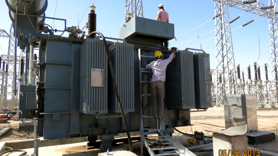 Buzurgan GTPP - Power Transformer Installation - Jun 2013