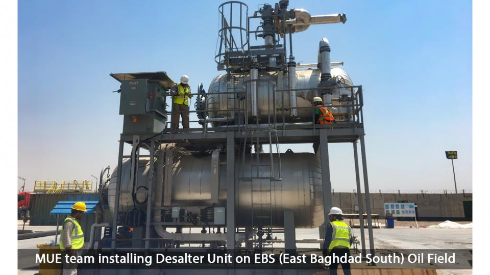 EBS Oil Field - Desalter Unit Installation